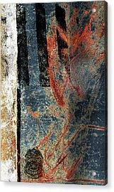 Blue Cop Trio Abstract #2 Acrylic Print