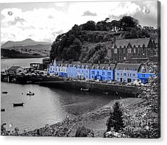 Blue Cottages At Portree Harbour 5 Acrylic Print