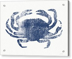 Blue Crab- Art By Linda Woods Acrylic Print by Linda Woods