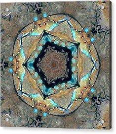 Acrylic Print featuring the photograph Blue Crab Kaleidoscope by Bill Barber