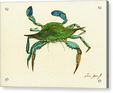 Blue Crab Painting Acrylic Print