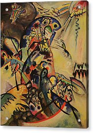 Blue Crest Acrylic Print by Wassily Kandinsky