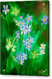 Blue Crocus Flowers Acrylic Print