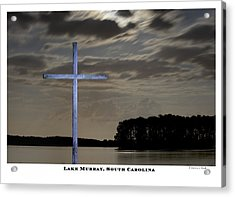 Blue Cross Acrylic Print by Donnie Bobb