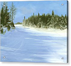 Acrylic Print featuring the painting Blue Cruiser by Ken Ahlering