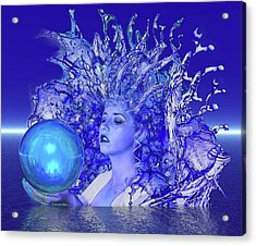 Blue Crystal Acrylic Print by Matthew Lacey
