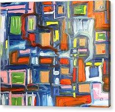 Blue Cube Acrylic Print by Alfredo Dane Llana