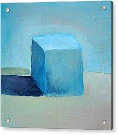 Blue Cube Still Life Acrylic Print by Michelle Calkins
