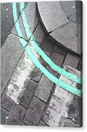 Acrylic Print featuring the photograph Blue Curb by Rebecca Harman