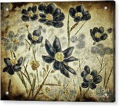 Blue Daisies Acrylic Print by Lois Bryan