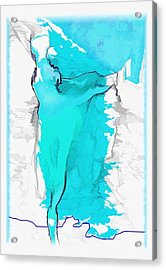 Blue Dancer Acrylic Print