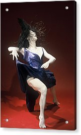 Blue Dancer Right View Acrylic Print by Gordon Becker