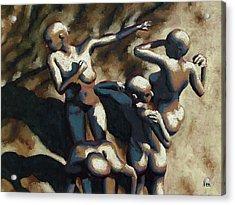 Blue Dancers Acrylic Print by Leo Mazzeo