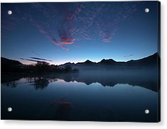Acrylic Print featuring the photograph Blue Dawn by Odille Esmonde-Morgan