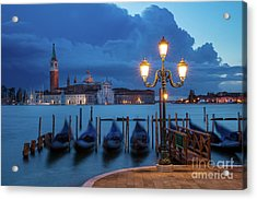 Acrylic Print featuring the photograph Blue Dawn Over Venice by Brian Jannsen