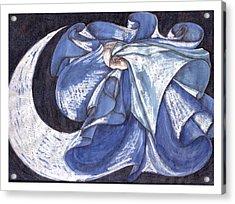 Blue Derwish Acrylic Print by Amrei Al-Tobaishi-Jarosch