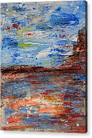 Blue Desert Acrylic Print