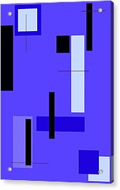 Blue Design 1 Vertical Acrylic Print