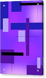 Blue Design 2 Vertical  Acrylic Print