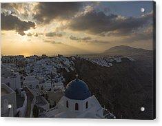 Blue Dome - Santorini Acrylic Print