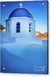 Blue Domed Chapel Acrylic Print