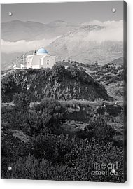 Blue-domed Church In The Mountains Acrylic Print by Royce Howland