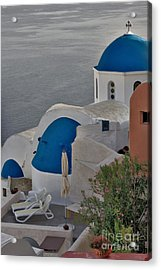 Blue Domes Acrylic Print