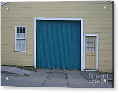 Blue Door Acrylic Print by Dennis Curry