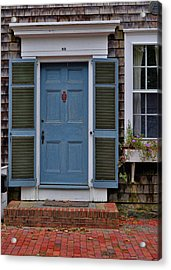 Nantucket Blue Door Acrylic Print by JAMART Photography