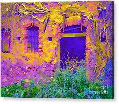 Acrylic Print featuring the digital art Blue Door by Loko Suederdiek