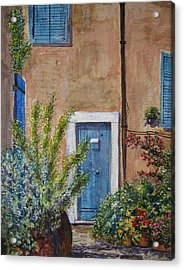 Blue Door Acrylic Print