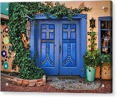 Blue Doors - Old Town - Albuquerque Acrylic Print