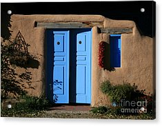 Blue Doors Acrylic Print by Timothy Johnson
