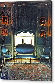 Blue Drawing Room Acrylic Print by DigiArt Diaries by Vicky B Fuller