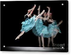 Acrylic Print featuring the photograph Blue Dress Dance by Dimitar Hristov