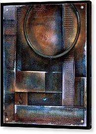 Blue Drop Acrylic Print by Stephen Schubert