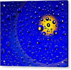 Acrylic Print featuring the photograph Blue Drops by Vladimir Kholostykh