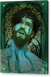 Blue Ecce Homo Acrylic Print by Joaquin Abella