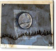 Blue Eclipse Acrylic Print