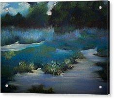 Blue Eden Acrylic Print