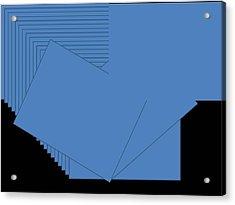 Blue Acrylic Print by Edith Womack