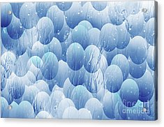 Acrylic Print featuring the photograph Blue Eggs - Abstract Background by Michal Boubin