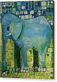 Blue Elephant Acrylic Print by Donna Howard