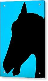 Blue Equus Acrylic Print
