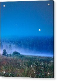 Acrylic Print featuring the photograph Blue Evening by Vladimir Kholostykh