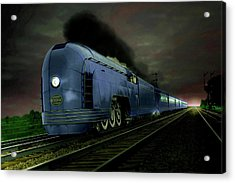 Acrylic Print featuring the photograph Blue Express by Steven Agius