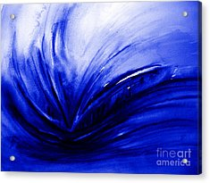 Acrylic Print featuring the painting Blue Expression by Allison Ashton