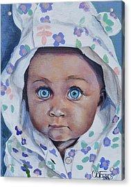 Blue-eyed Baby Acrylic Print