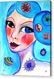 Blue Eyed Woman Acrylic Print