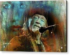 Blue Eyes Crying In The Rain Acrylic Print